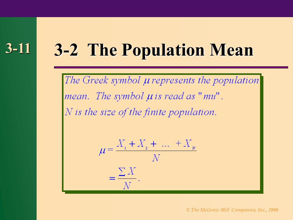 3-2 The Population Mean 3-11 11