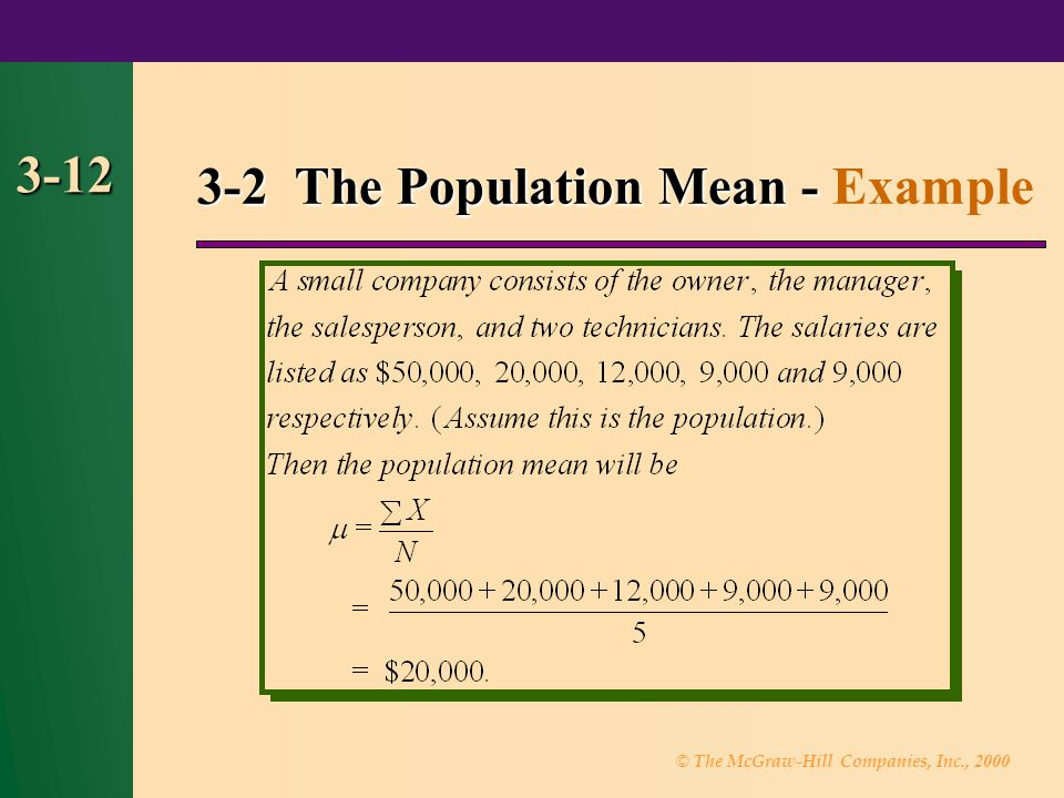 3-2 The Population Mean - Example