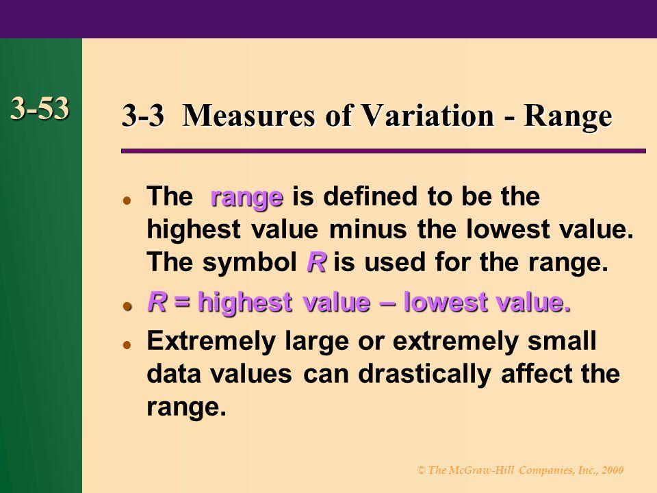 3-3 Measures of Variation - Range