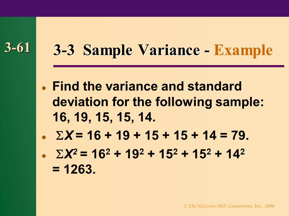 3-3 Sample Variance - Example