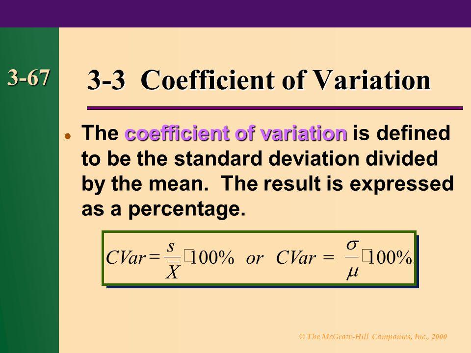 3-3 Coefficient of Variation