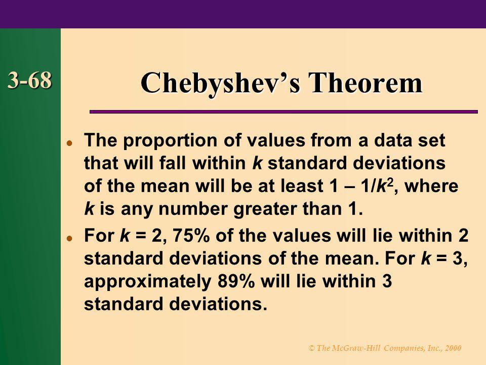 Chebyshev's Theorem 3-68.
