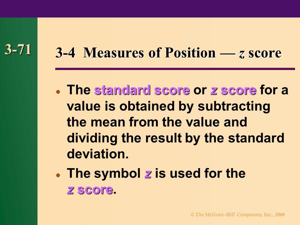 3-4 Measures of Position — z score