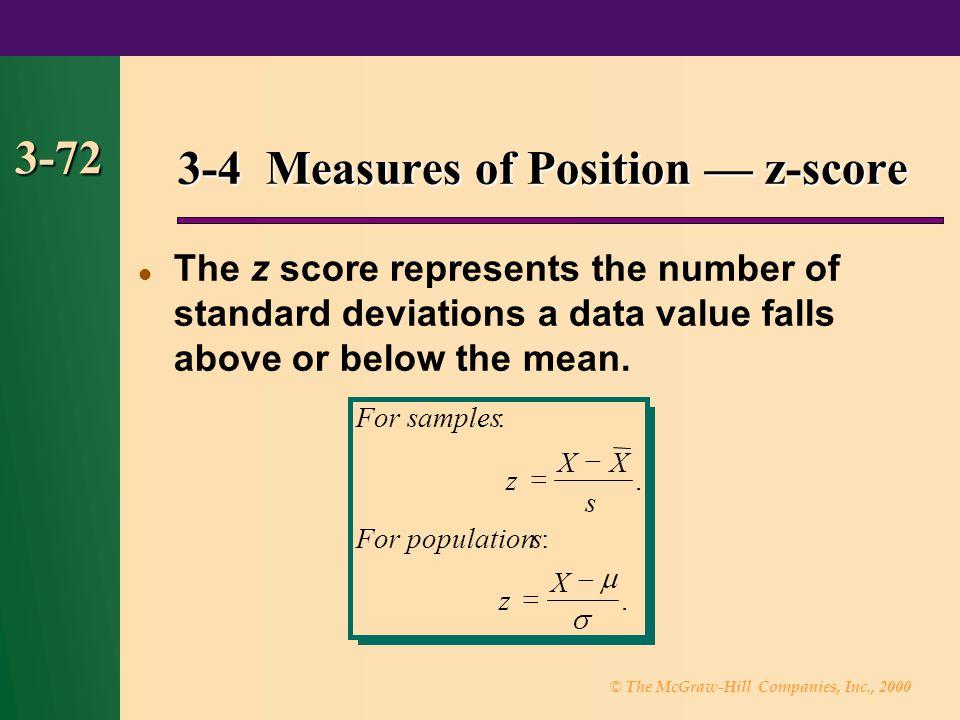 3-4 Measures of Position — z-score
