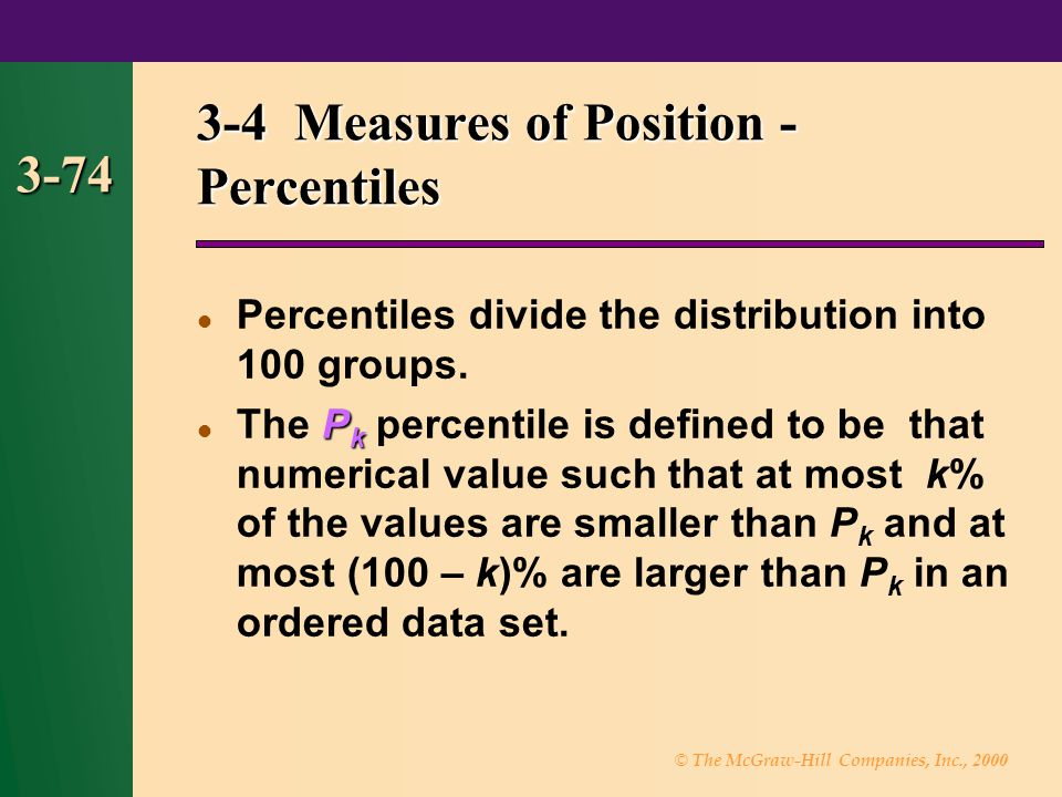 3-4 Measures of Position - Percentiles