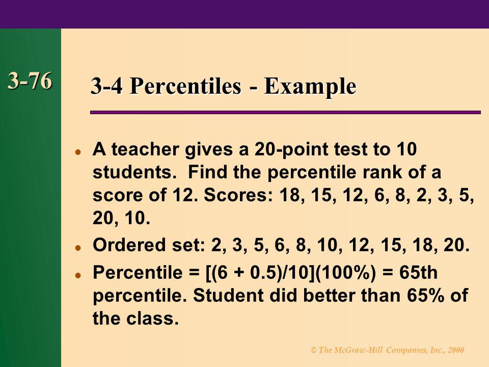 3-4 Percentiles - Example