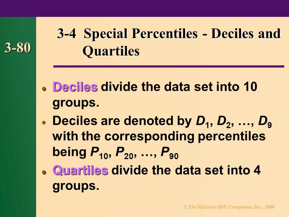 3-4 Special Percentiles - Deciles and Quartiles