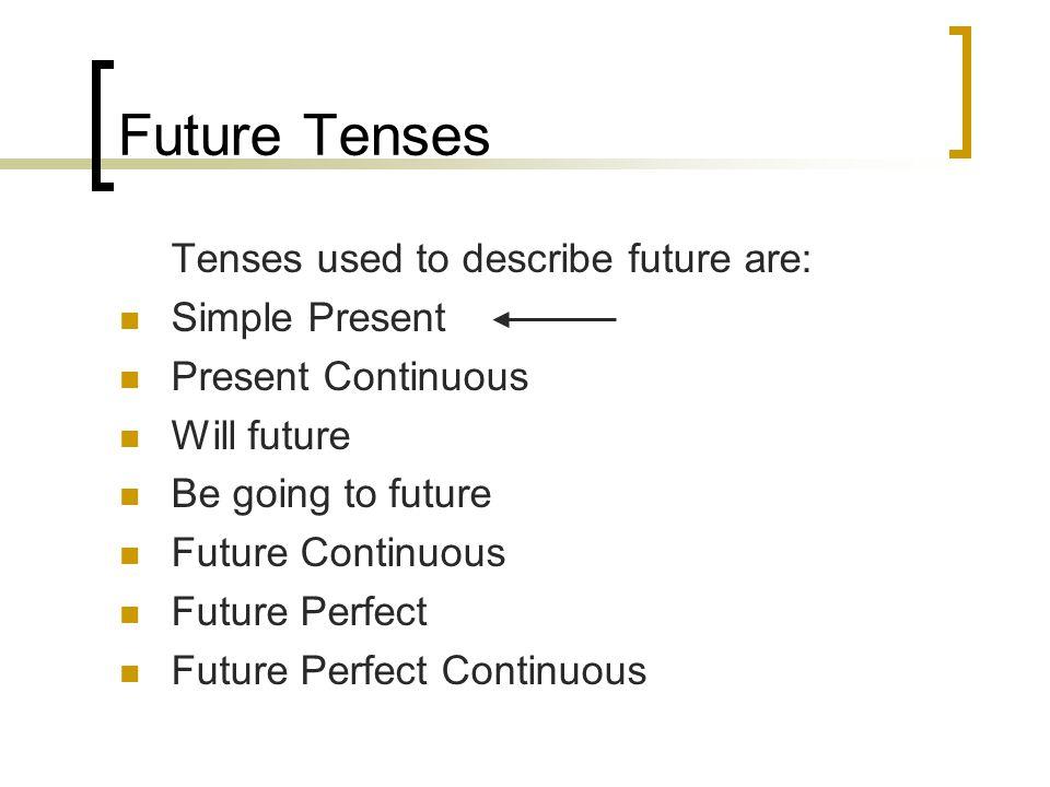 present continuous for future