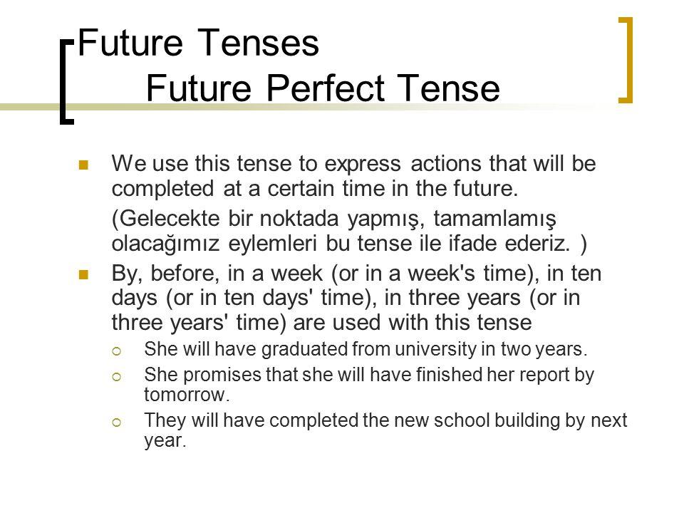 Future Tenses Future Perfect Tense