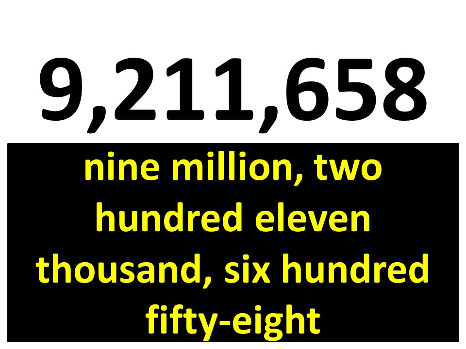 nine million, two hundred eleven thousand, six hundred fifty-eight