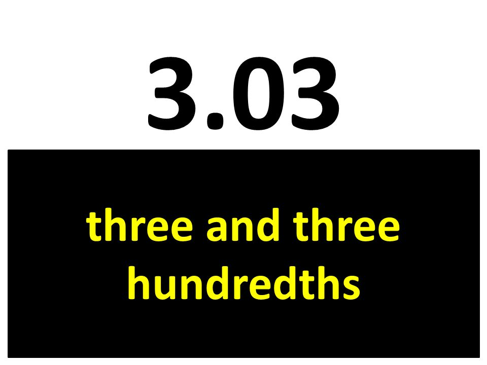 three and three hundredths