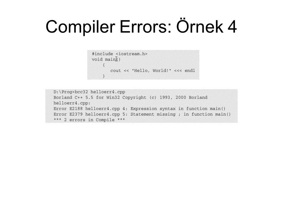 Compiler Errors: Örnek 4