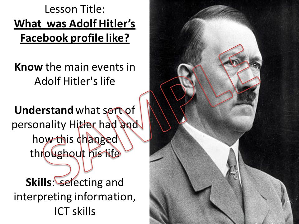 What was Adolf Hitler's Facebook profile like