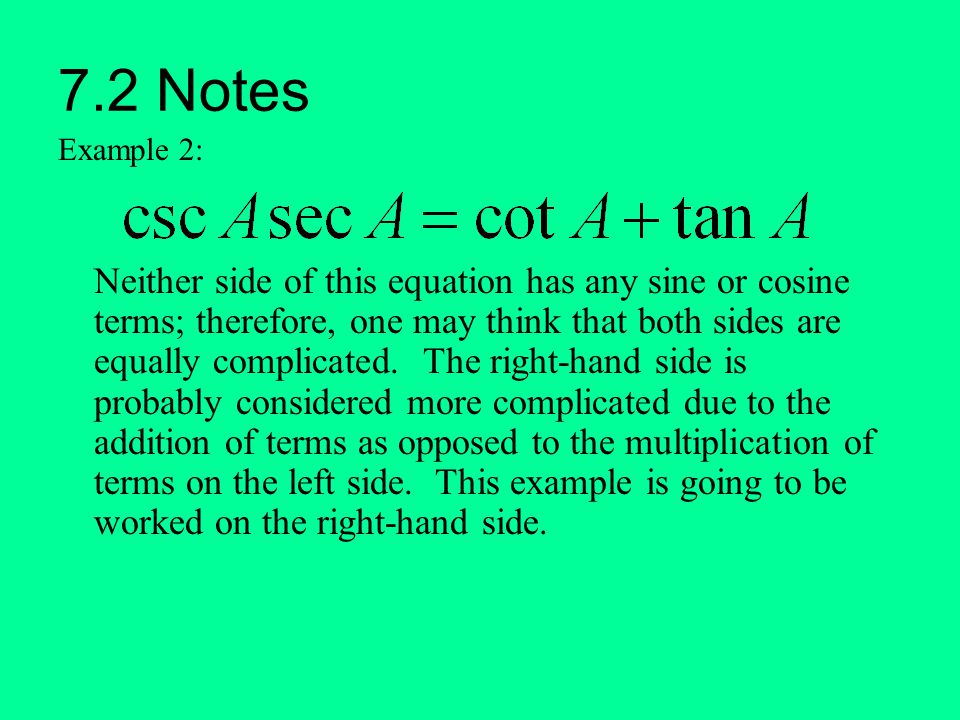 7.2 Notes Example 2: