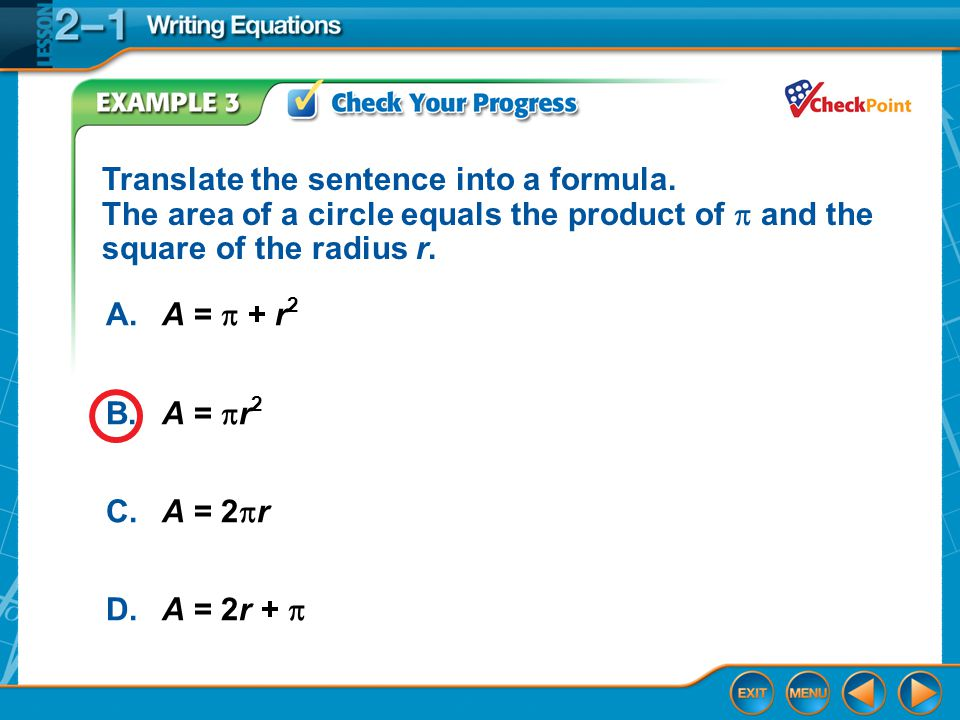 Translate the sentence into a formula