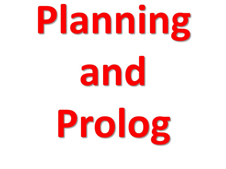 Planning and Prolog