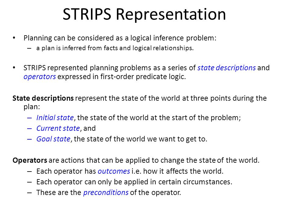 STRIPS Representation