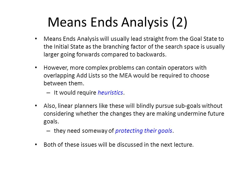 Means Ends Analysis (2)