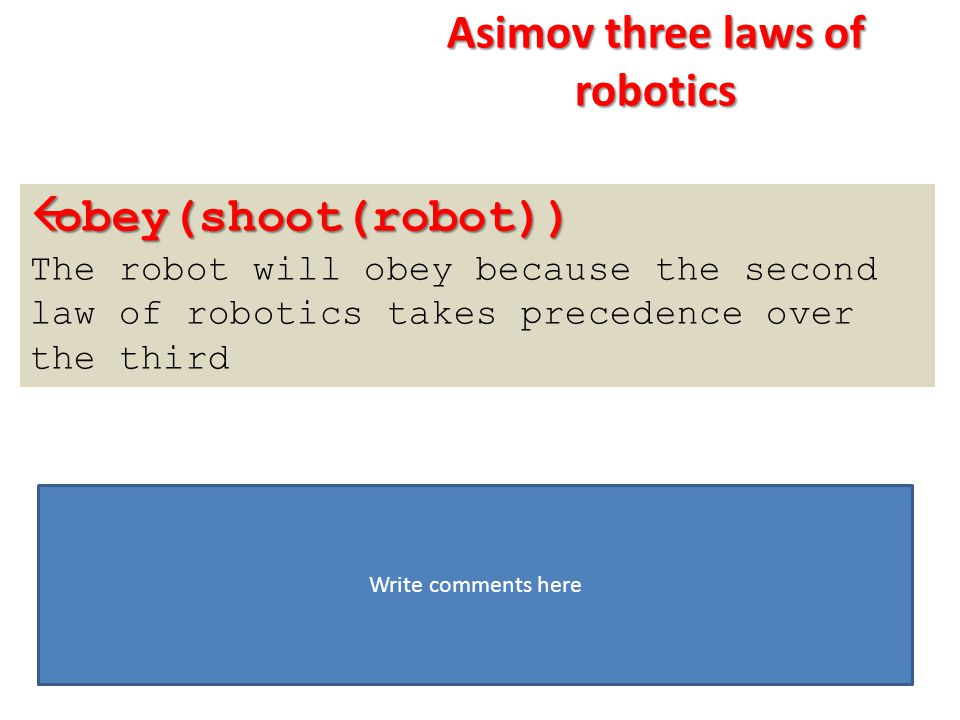 Asimov three laws of robotics
