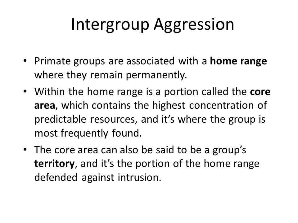 Intergroup Aggression