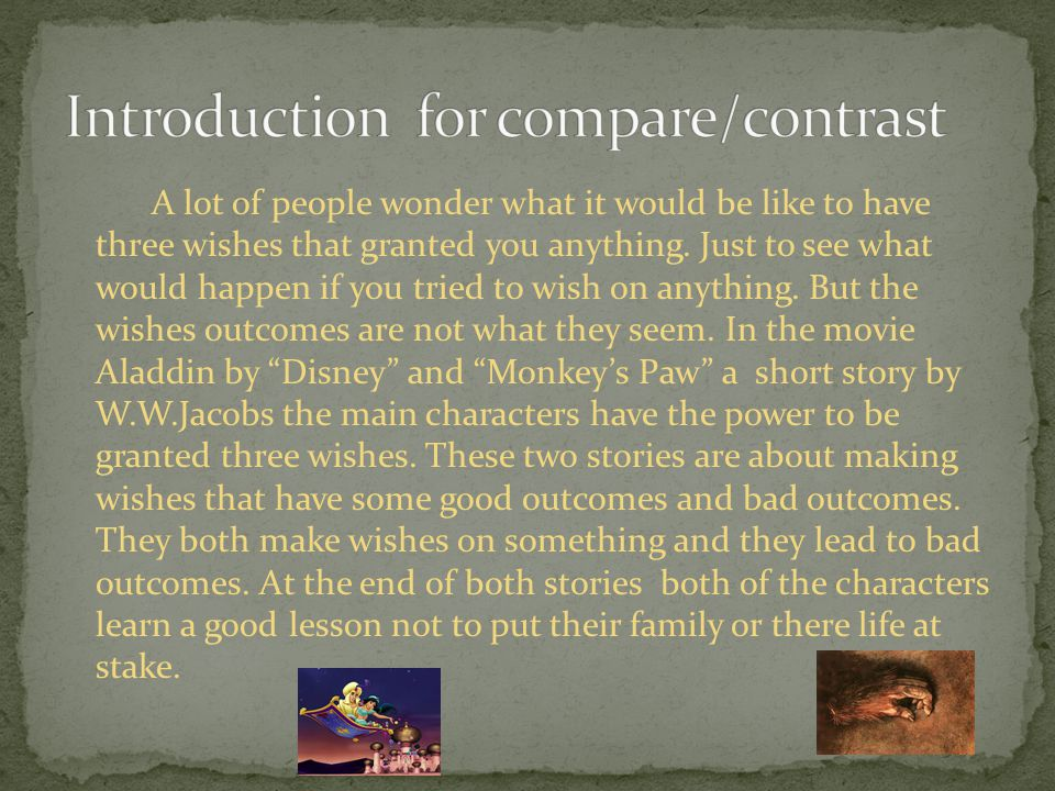 Introduction for compare/contrast
