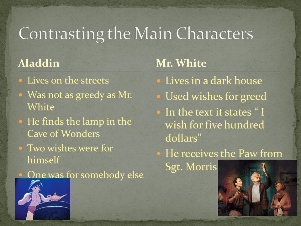 Contrasting the Main Characters