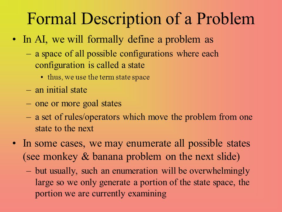 Formal Description of a Problem