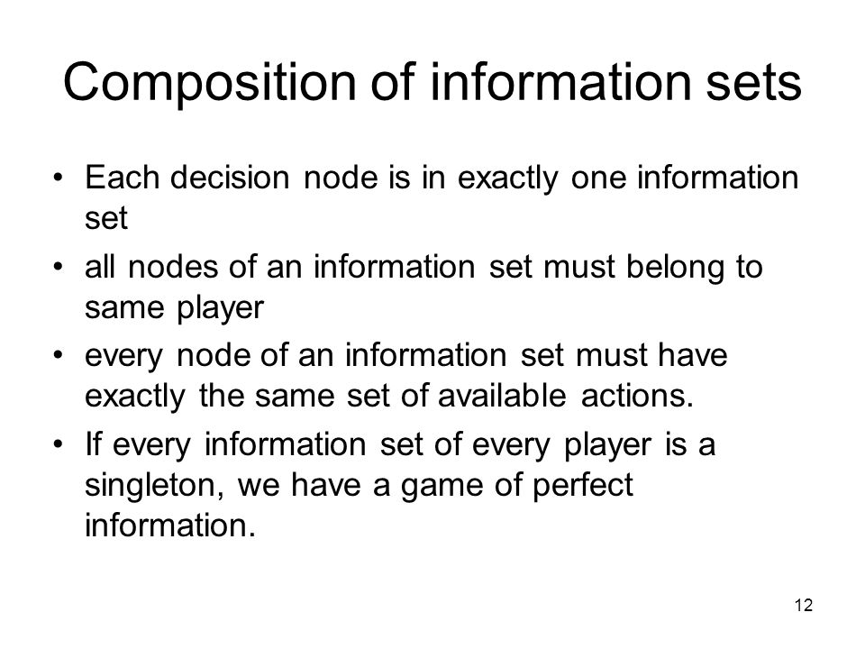 Composition of information sets