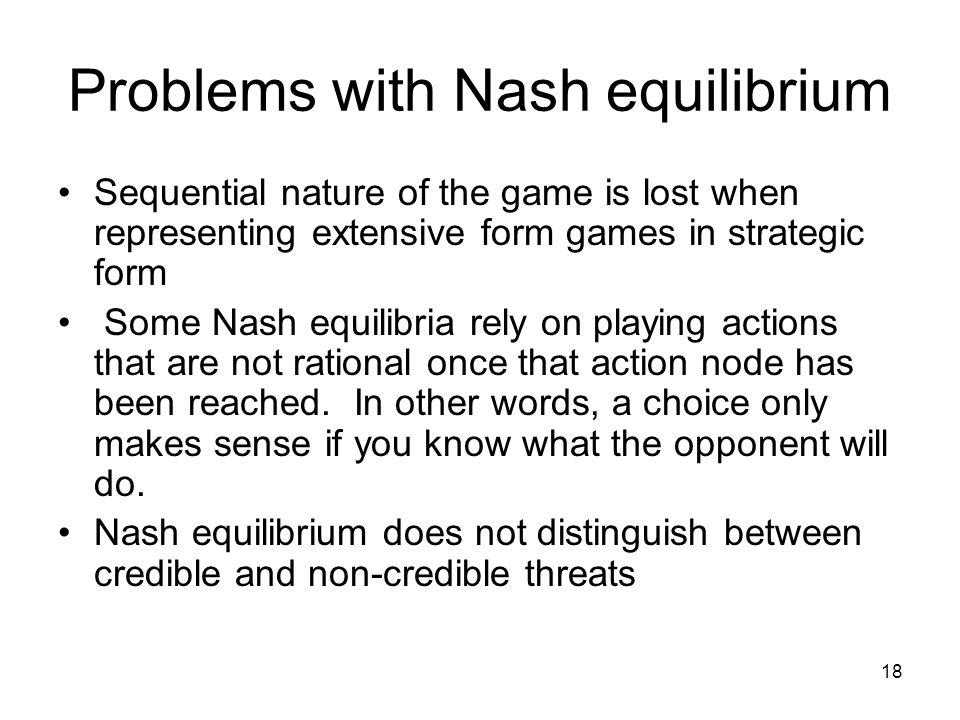 Problems with Nash equilibrium