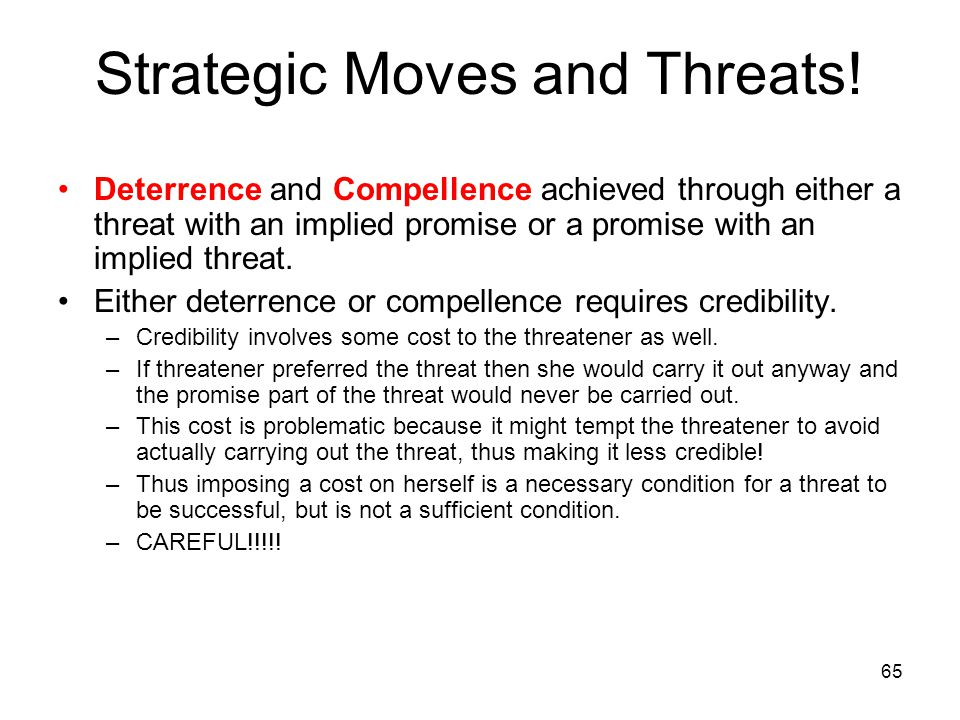 Strategic Moves and Threats!