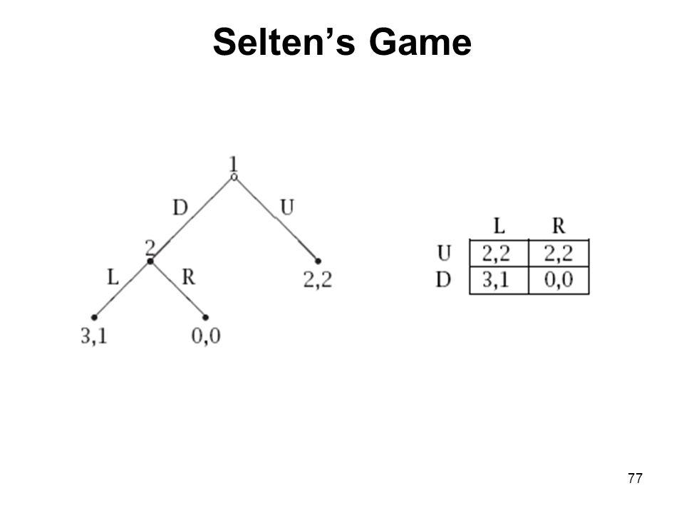 Selten's Game