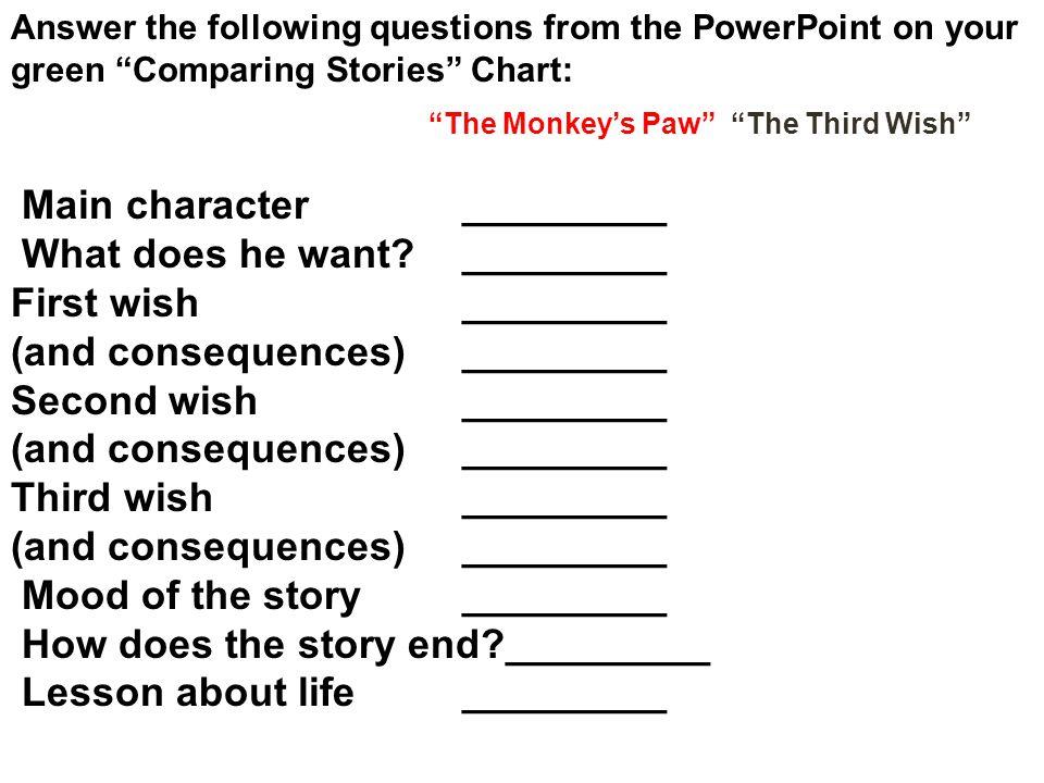 The Monkey's Paw The Third Wish