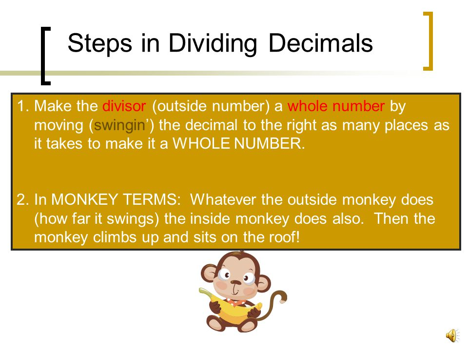 Steps in Dividing Decimals
