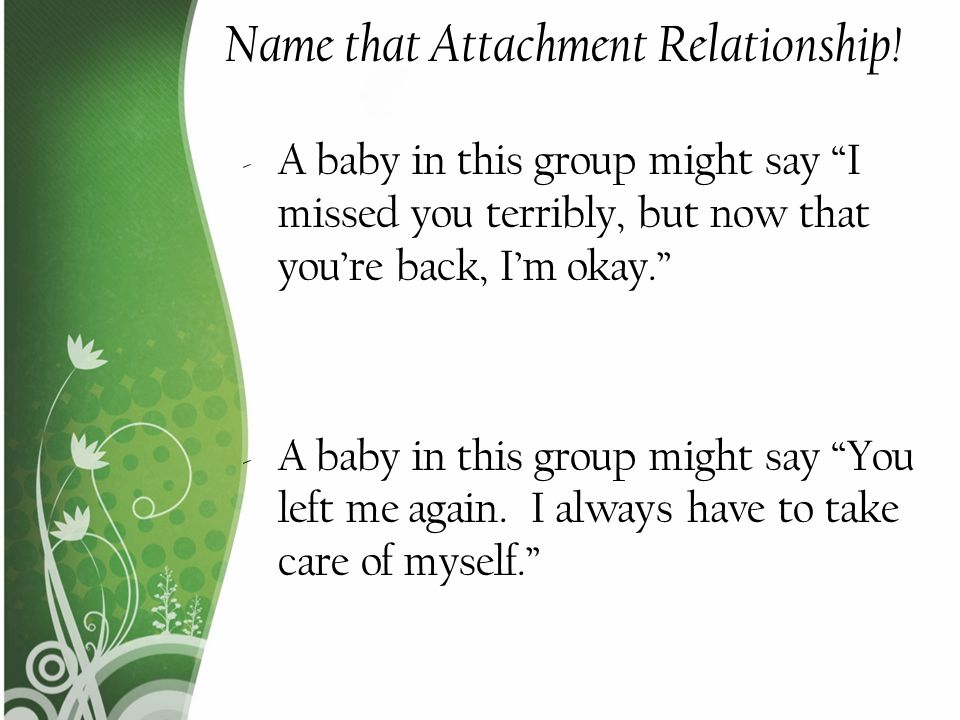 Name that Attachment Relationship!