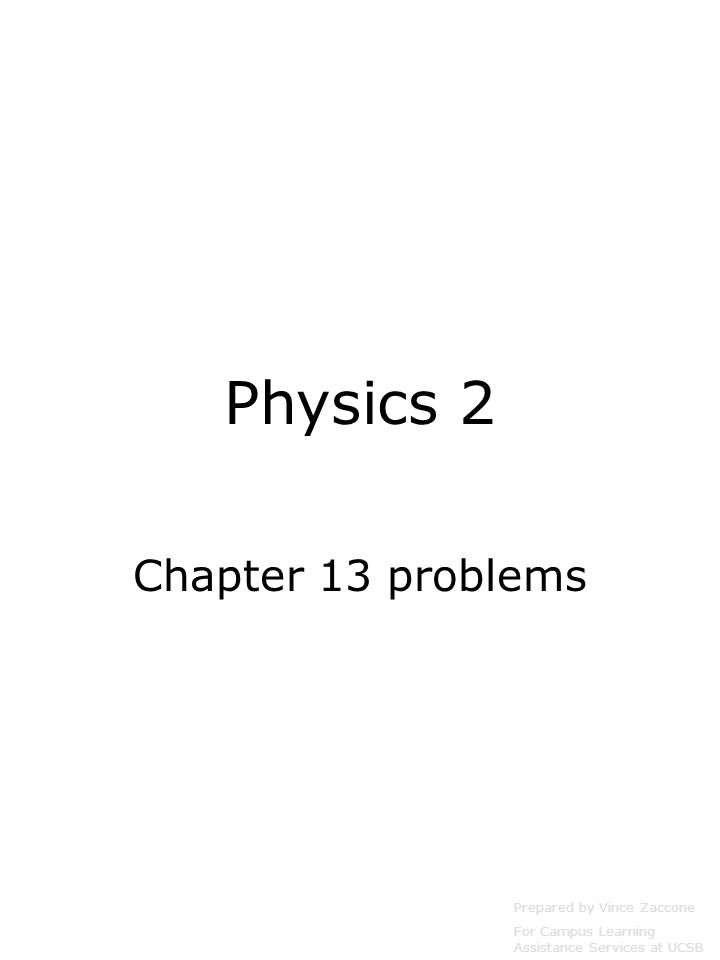 chapter 13 problems