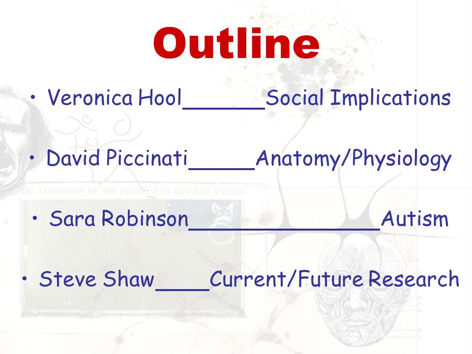 Outline Veronica Hool Social Implications