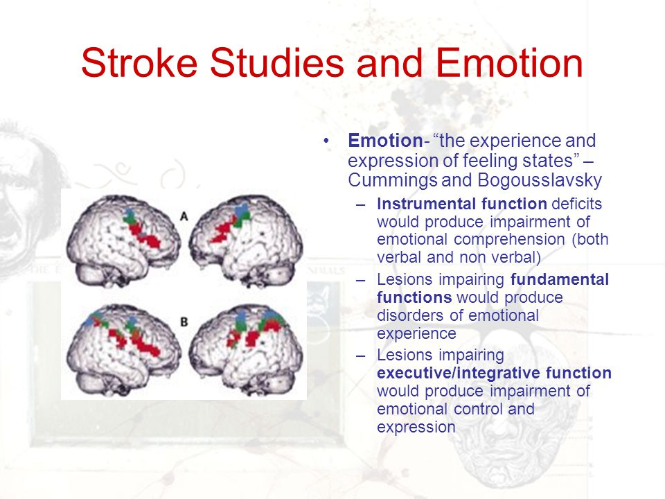 Stroke Studies and Emotion