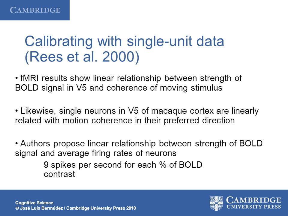 Calibrating with single-unit data (Rees et al. 2000)
