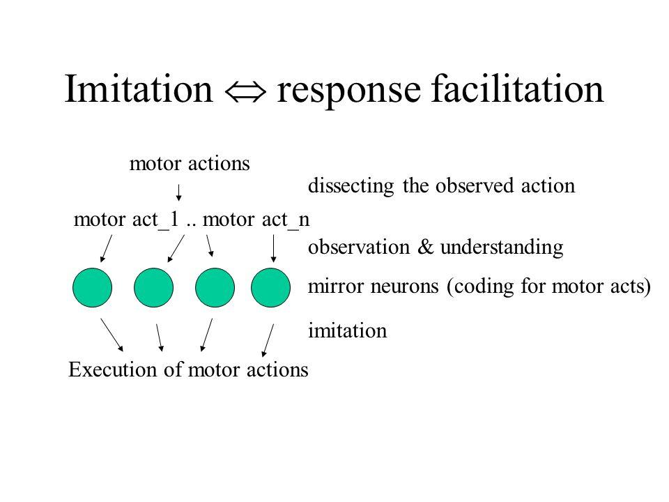 Imitation  response facilitation