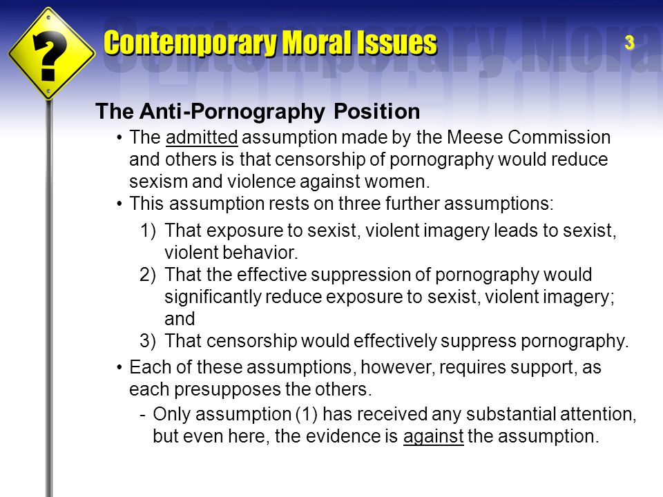 The Anti-Pornography Position
