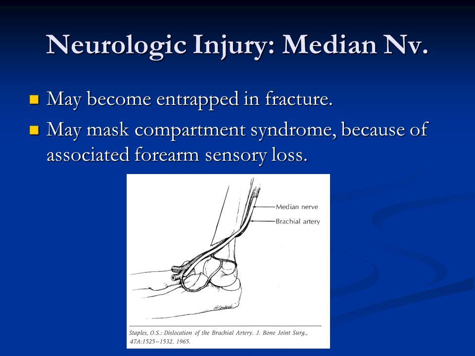 Neurologic Injury: Median Nv.