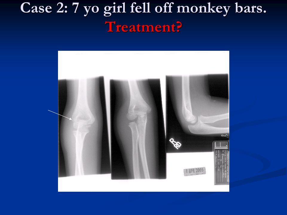 Case 2: 7 yo girl fell off monkey bars. Treatment