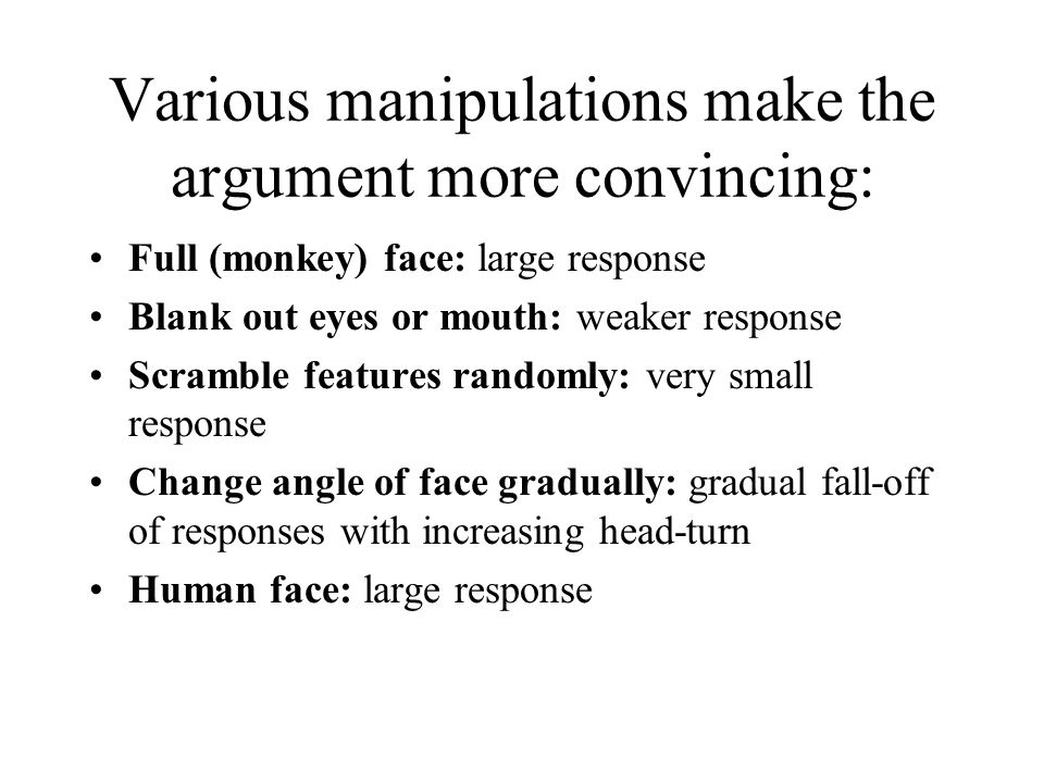 Various manipulations make the argument more convincing: