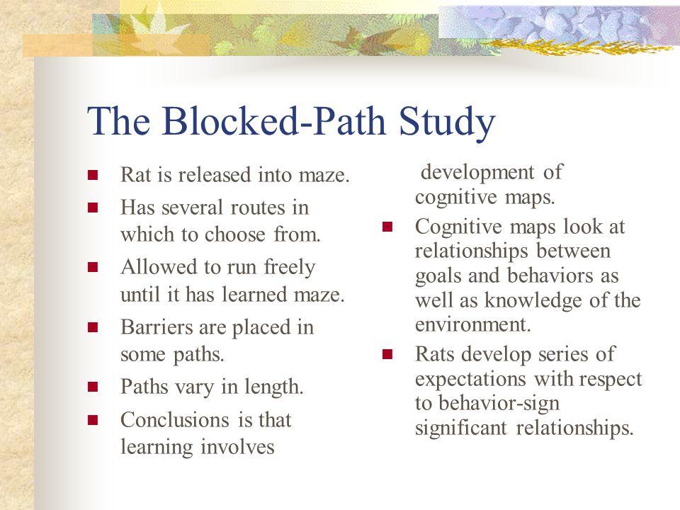 The Blocked-Path Study