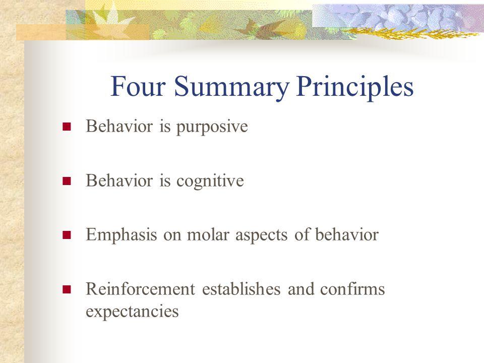 Four Summary Principles