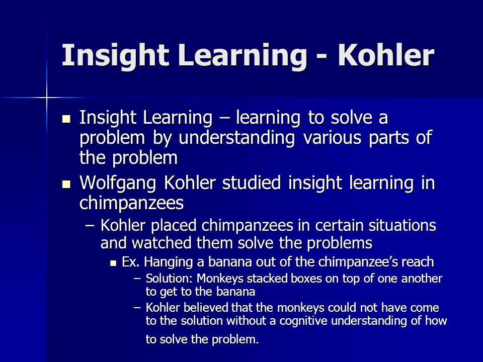 Insight Learning - Kohler