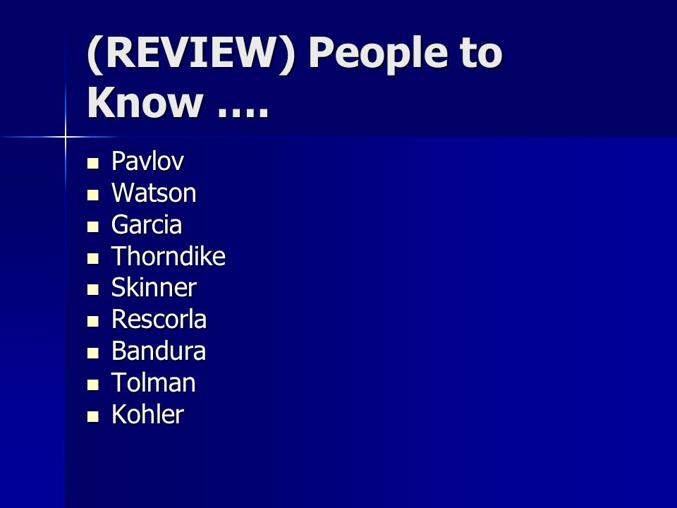 (REVIEW) People to Know ….