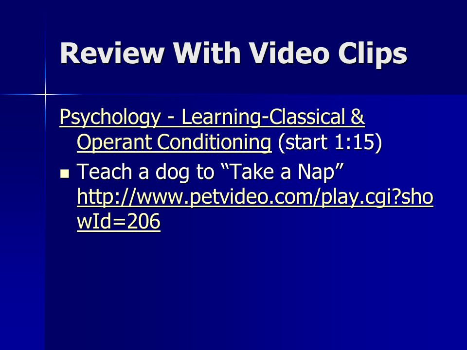 Review With Video Clips
