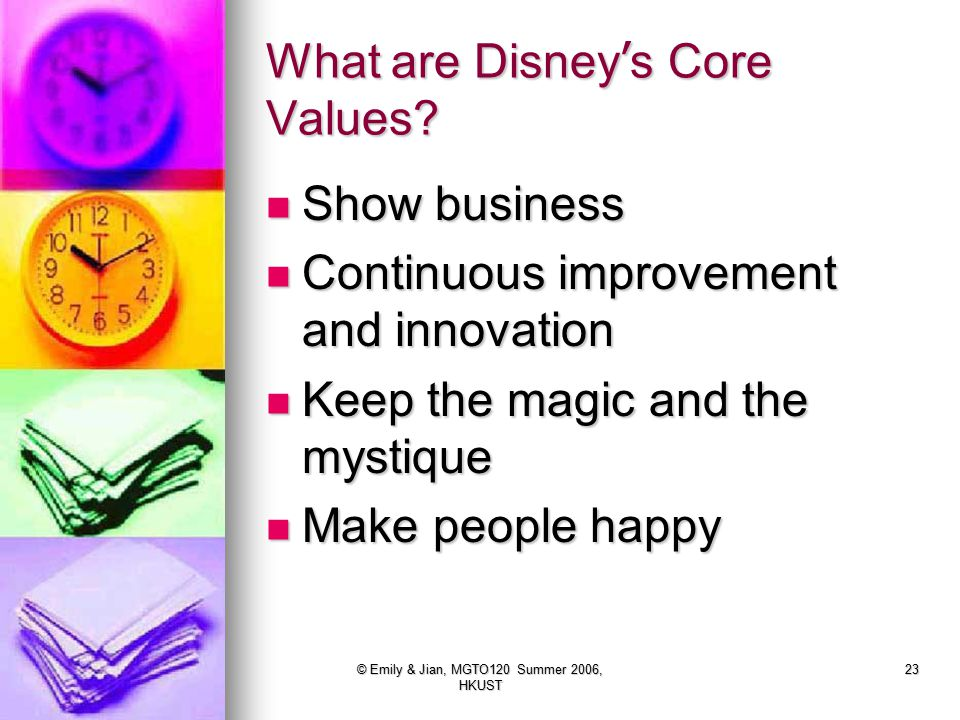 What are Disney's Core Values