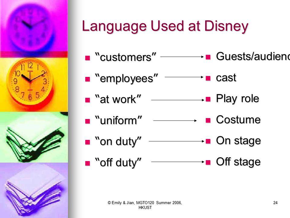 Language Used at Disney